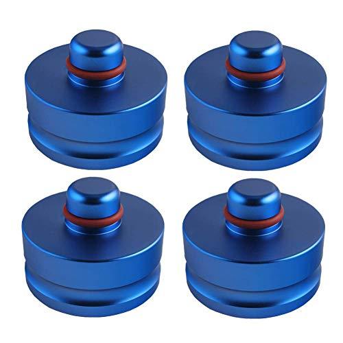 Senmubery Almohadilla de Punto de ElevacióN de 4 Piezas para Model 3 VehíCulo de ElevacióN Segura Protege el Gato del AutomóVil de DaaAr la BateríA para Usar con un Gato de Piso(Azul)