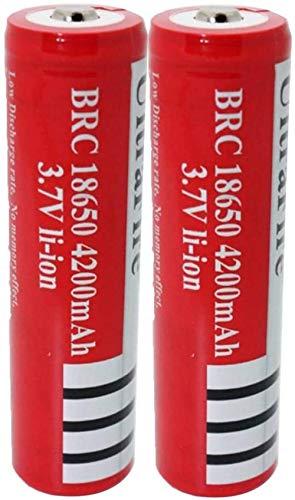 18650 Batería 3.7V 4200mAh Batería Recargable León para Linterna Lámpara de antorcha LED Batería de Litio
