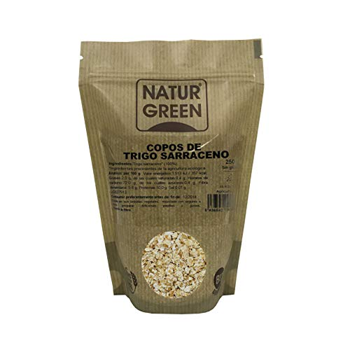 Copos de Trigo Sarraceno BIO Sin Gluten Naturgreen - 250 g