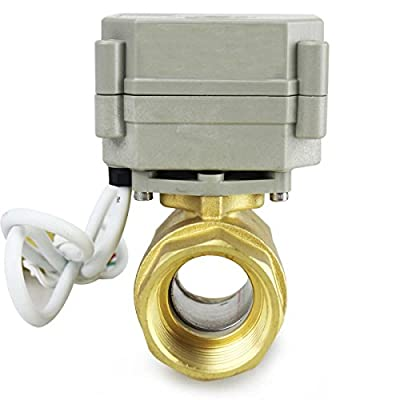 "HSH-Flo 2 Way 1/2"" 3/4"" 1"" 1-1/4"" 12V/24VAC/DC Brass On/Off Auto Return Electrical Position Feedback Motorized Ball Valve (3/4 Inch) from HSH-Flo"