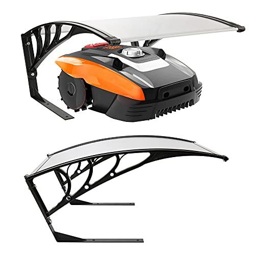 Arebos Garage de tondeuse robot | Taille 102 x 79 x 46 cm | Résistant aux intempéries + protection UV | avec pieds en métal | matériel de montage inclus