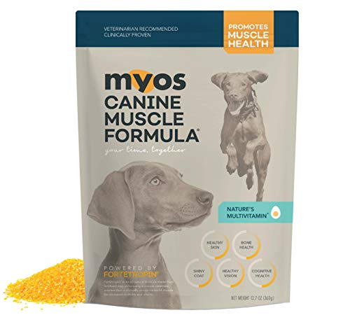 MYOS Canine Muscle Formula - Clinically Proven All-Natural Muscle Building Supplement - Reduce Muscle Loss in Aging Dogs and Improve Recovery from Injury or Surgery  6.35 Ounce