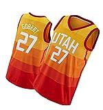 Camiseta de baloncesto Jaz Daily Sports de manga corta Gobert Chaleco Jersey #27 Naranja, naranja, S