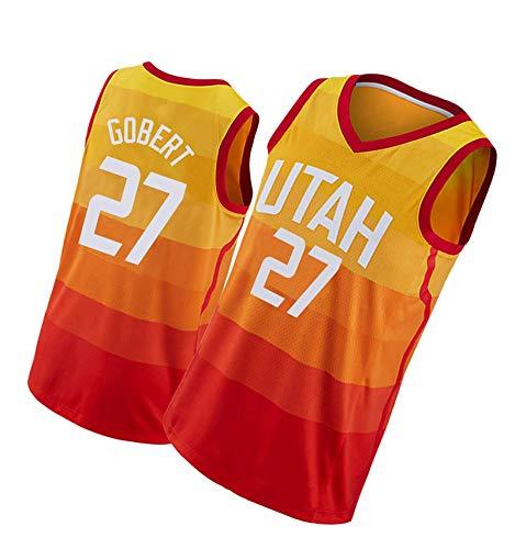paglutaw Naranja de encargo NO.27 de la ropa deportiva de la manera de Jaz de las camisetas del baloncesto de Gobert para los hombres