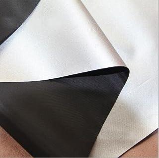 Cortinas opacas de color gris y negro, resistentes al agua y protección ante rayos UV; tela ligera de gamuza para ventanas, negro, 2 yards …