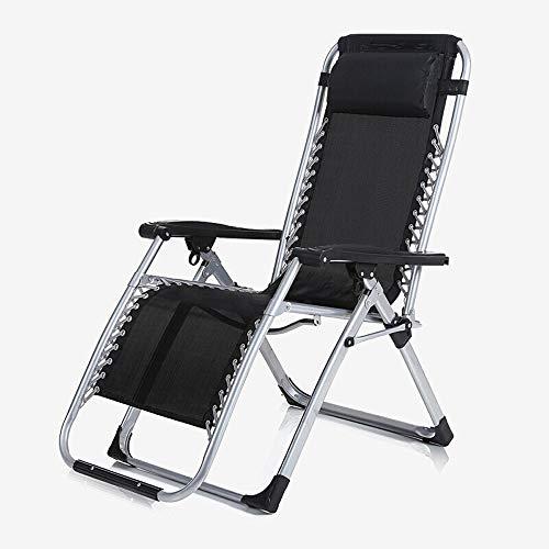 Alppq Reclinable Plegable y Ajustable Sillón Gravedad Cero reclinables - sillas reclinables al Aire Libre Tumbonas Relaxer for Silla del Patio de Plataforma Jardines de Acampada de la Playa Hamaca