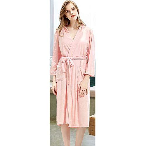 ZSDGY Dünnes Paar Nachthemd/Damen Handtuch Bademantel/Herren Pyjama/erweitert, um den Bademantel zu erhöhen H-M