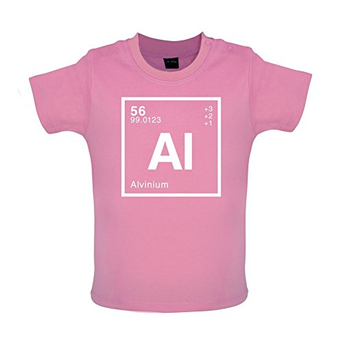 Alvin - Periodic Element - Baby/Toddler T-Shirt - Bubble Gum Pink - 18-24 Months