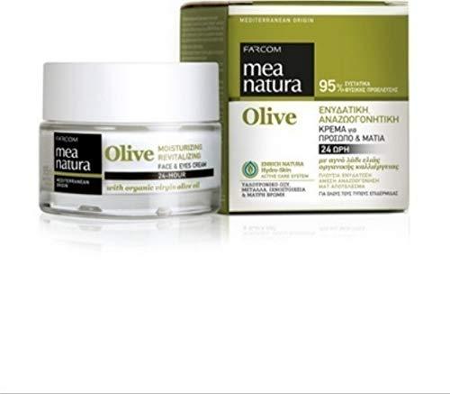 Mea Natura Olive Moisturizing, Revitalizing 24-Hour Face & Eyes Cream, with Organic Greek Virgin Olive Oil, 50 ml
