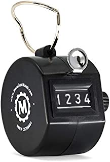 MARATHON CO200001 Handheld Tally Counter with Finger Ring for Sports, Warehouse, Laboratories, Factories and Offices. Guaranteed for 100,000 Clicks