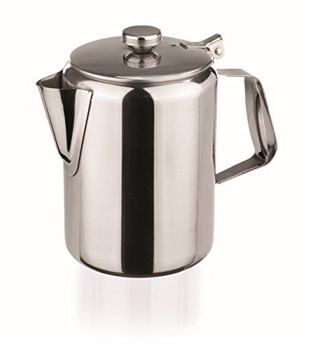 Cafetera de acero inoxidable de 1000ml con tapa de bisagra, pulido brillante,...