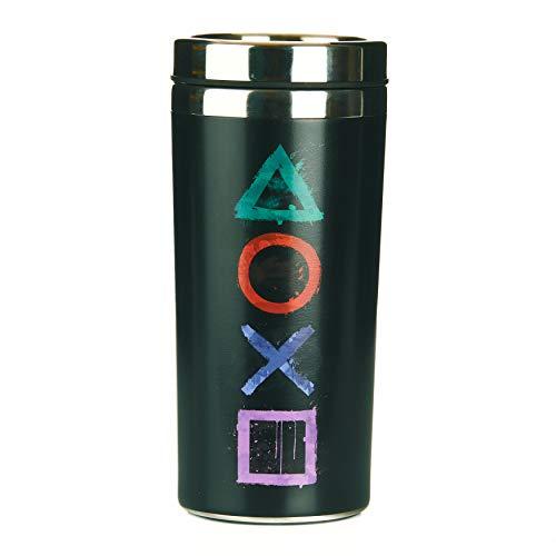 Paladone Playstation Reisebecher mit 450 ml Fassungsvermögen, isolierter Edelstahlbecher, mehrfarbig, 9 x 9 x 18 cm