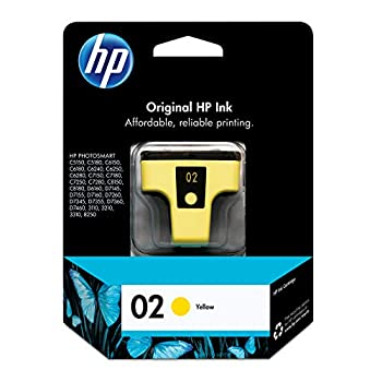 HP 2   Ink Cartridge   Yellow   Works with HP Photosmart 3210 3310 C5180 D7200 series   C8773WN