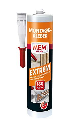 MEM Montage- Kleber Extrem - 380 g - hochwertiger Klebstoff zum socheren Verkleben - 10 sek - ideal zur Verklebung von Porenbton, Stein, Span, Dämm und Isolierplatten - 30613592