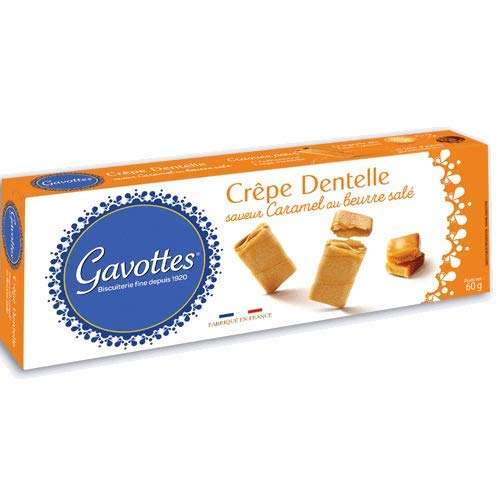 Gavottes - Waffelröllchen (Crêpe Dentelles) mit Karamell und gesalzener Butter 60 g
