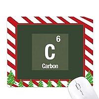 炭素元素科学 ゴムクリスマスキャンディマウスパッド