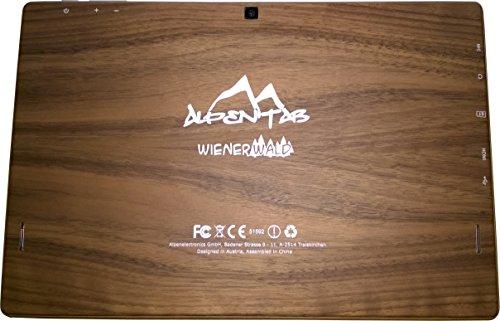 AlpenTab Wienerwald Nuss ALPW10BN 25,6 cm (10,1 Zoll) Tablet-PC (Intel Atom Baytrail 3735F, 1,3GHz, 2GB RAM, 64GB HDD, Intel Grafik, Win 8.1) hartholz nuss