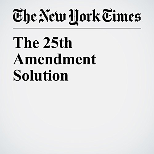 The 25th Amendment Solution copertina