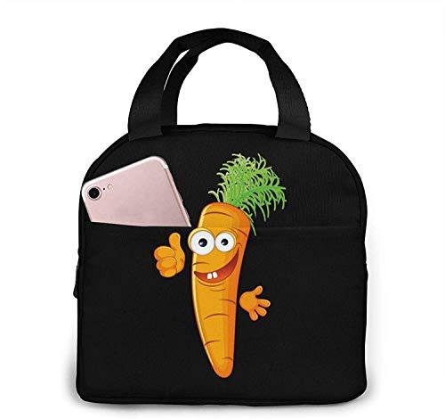 Buenas bolsas de almuerzo de zanahoria, caja de almuerzo con aislamiento portátil, bolsa refrigeradora, bolsa Bento para viajes / picnic / trabajo