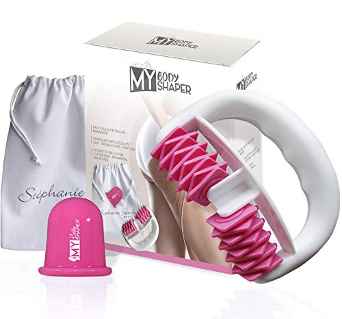 Stephanie Franck Beauty Set Trattamento Anti Cellulite Con Rullo Massaggiante Cellulite e Tazza