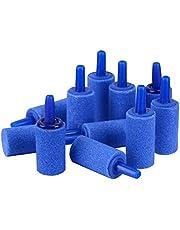Uniclife 2,5 cm aire piedras cilindro 12 unids burbuja difusor airstones para acuario tanque bomba azul