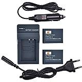 DSTE 2-Pack Repuesto Batería BXM-10 + DC175E Viaje Cargador Compatible para XiaoYi BXM-10,XiaoYi YI-M1 Mirrorless