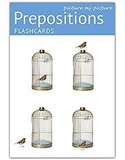 Prepositions Flash Cards: 40-pozycyjny język foto Cards