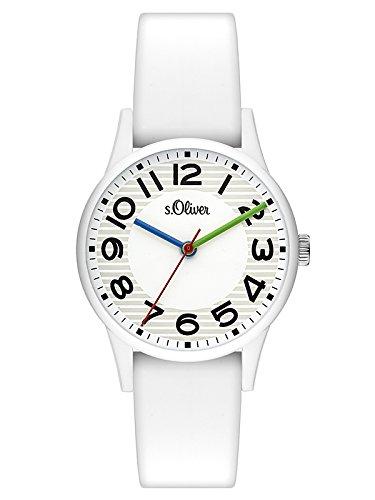 s.Oliver Damen Analog Quarz Uhr mit Silikon Armband SO-3518-PQ