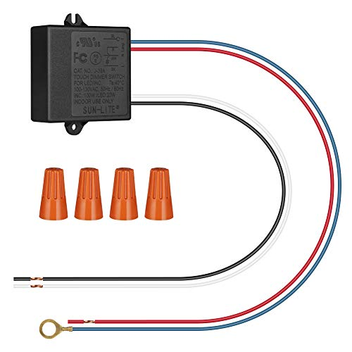 DEWENWILS Light Dimmer, Touch Lamp Control Module, 3 Levels Sensor Dimming, Touch Lamp Replacement Kit, for Dimmable LED and Incandescent Bulbs, UL Listed