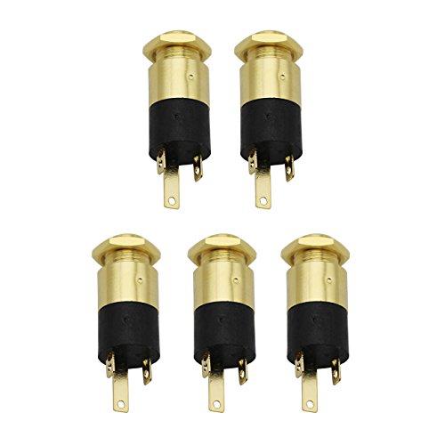 Raogoodcx 5PCS 3.5MM Cylindrical Socket Stereo Female Socket Jack with Screw 3.5 Audio Headphone Connector