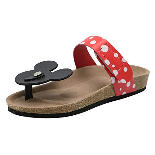 Kaizi Karzi Damen Mode Tanga Sandalen Klettverschluss Zehentrenner Strand Sandalen Red Gr 43 Asiatisch