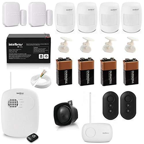Kit Para Alarme Residencial Completo Com Central AMT 2008 RF Intelbras + Acessórios AMT2008 RF