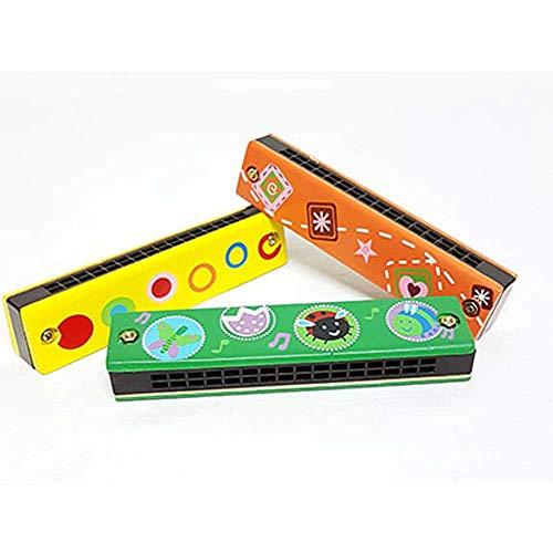 Armónica Madera Infantil. Instrumentos Musicales para niños. Lote de 6 Unidades.