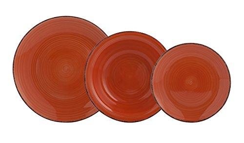 QUID Vita Vajilla de 18 Piezas, Cerámica, Naranja, 32x30x30 cm