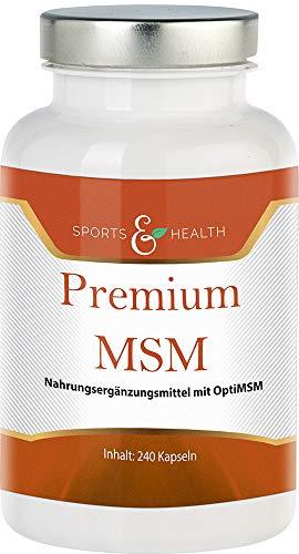 MSM Kapseln Aus HochdosierteM OPTI MSM Mit 750 mg pro Tagesdosierung In 240 Kapseln Frei Von Zusätzen Wie Magnesiumstearat Und Gelatine In Veganen Kapseln Und Made In Germany
