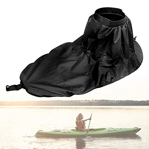 Yosoo Health Gear Paraspruzzi da Kayak, Gonna Spray da Kayak, Copertura Universale in Nylon Regolabile per Kayak Copri Gonna Impermeabile per Canoa Accessori per Sedersi all'Interno dei Kayak (Nero)