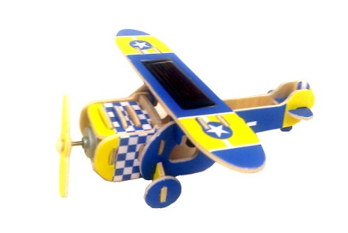 3D wooden puzzle kit color high-wing airplane PS210 to move (japan import)