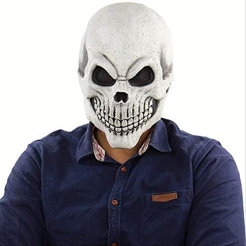 Ruox MascaraEspeluznante Mal Payaso máscara Doble Cara látex Goma máscara Halloween máscara máscara Payaso con Pelo para Adultos máscaras Caballero