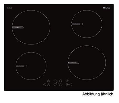 Vestel VEA25016, piano cottura a induzione libero, funzione booster, 4fornelli, piano cottura a incasso, 60x 60cm con controllo touch