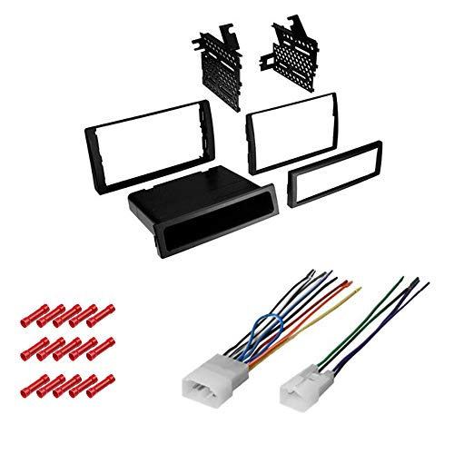 CACHÉ KIT591 Bundle with Car Stereo Installation Kit for 2002 – 2006 Toyota Camry (Does Not Have OEM Nav) – in Dash Kit, Harness, for Single or Double Din Radio Receiver (3 Item)