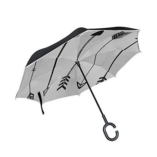 Paraguas invertido de Doble Capa Sillas Plegables de Arma de Caza Tradicional...