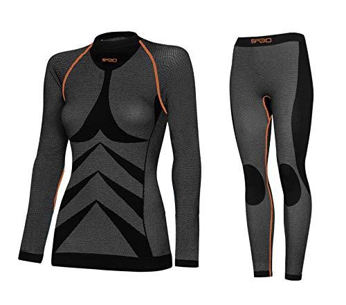 SPAIO ® dames functioneel ondergoed motorfiets, ski,- thermo-wasgoed, warm, zacht, ademend en vlakke stiksels - (Made in Italy)