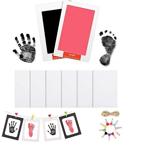Fussabdruck Baby, Baby Abdruck set Baby Handabdrücke und Fußabdrücke, Sauberes Touchpad, Baby Fussabdruck Set, tolle Familiengeschenke Für Babys