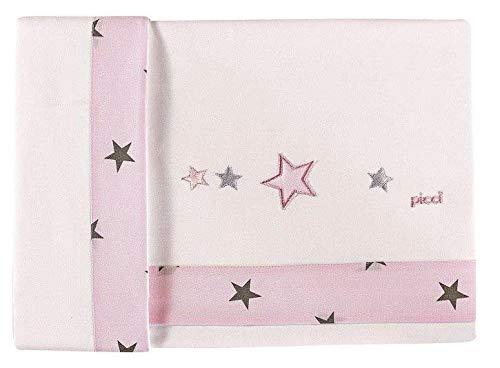 Draps Berceau étoile blanc/rose