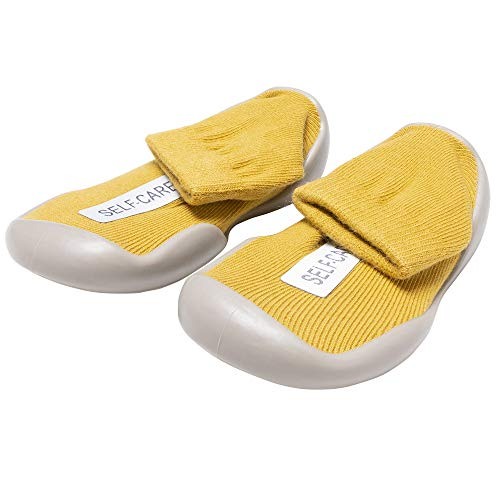 Baby Girl Boy Sock Shoes Toddler Newborn Infant Soft Sole Non Slip First Walker Boots Knitted Cotton Walking Slippers Yellow
