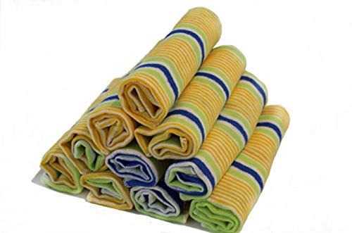 Gluecksshop 10 Stück Staubtücher 30 x 35 cm, staubbindend, fusselfrei, weich und griffig, 70% Baumwolle
