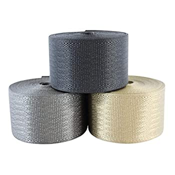 SGT KNOTS Belt Webbing - Heavy Duty and 100% Polyester Straps for Cargo Harnesses Canoe Seats and Climbing Uses  2  x 10ft Grey