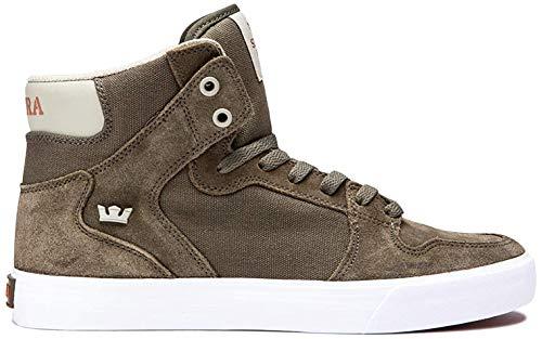 Supra Unisex-Erwachsene Vaider Hohe Sneaker, Grün (Olive/Stone-White-M 370), 42.5 EU