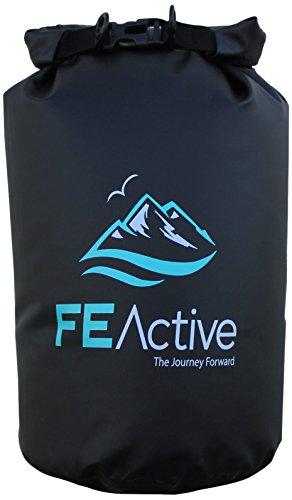 FE Active – 15L Eco Friendly étanche Dry Bag Sac Idéal pour tous d'extérieur et activités liées à l'eau. doublé Bord sur l'ouverture pour une Isolation maximale lorsque rassemblant