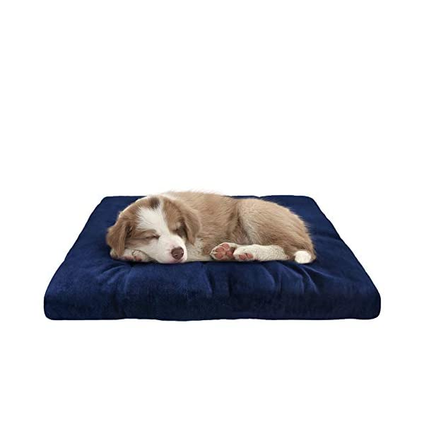 SHU UFANRO Dog Crate Mat Washable Kennel Pads Mat Anti-Slip Mattress Pet Bed Pads for Large Medium Small Dogs and Cats 30″/36″/42″